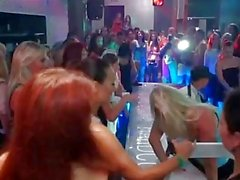 European amateur deepthroating dick at party