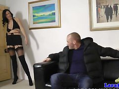 English milf closeup spunked in mouth