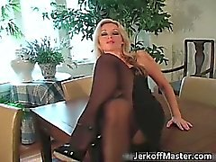 Amamzing blonde hoe is stripping part2