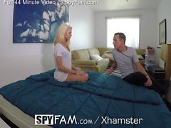 SpyFam Step brother gives step sister Elsa Jean fucking tips