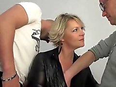 Mature blonde Sophia anal fucked in front of her husband
