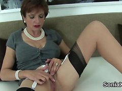 Unfaithful english mature lady sonia flaunts her huge knocke