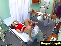 Euro patient fucked by doctor during exam