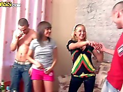 Party with fuckable Teen girls Evi C Luna and Lydia