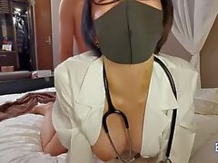 Jav Cosplay Doctor Arisu Fucks Uncensored Big Tits And Shaved Pussy Cumshot In This Clip