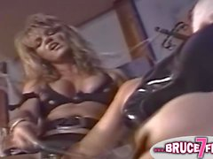 Bound 90s lesbian clamped