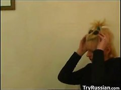 Horny Russian Whore With A Teen Guy