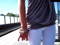 naughty-hotties net - timid cutie public tease to train stat