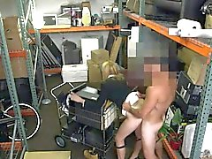 Busty stripper screwed by nasty pawn guy in his pawnshop