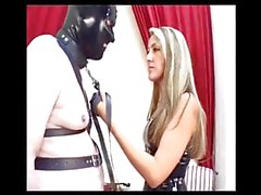 Blonde German Humiliatrix Trains Slave