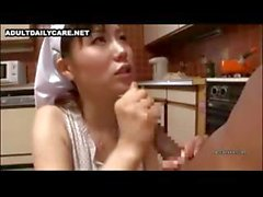 Sexy Asian nurse gives a censored POV blowjob and gets fingered
