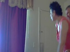 Mum and dad home alone having fun. Hidden cam