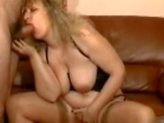 Mature fucked in nylon