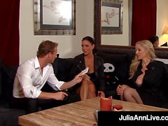Bound Cougars Julia Ann & Jessica Jaymes Fucked By Perv!