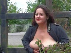 Busty mature amateur Andreas public masturbation and bbw wife flashing