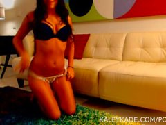 Kaley Kade Teases in Bra and Thong