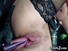 Busty Blonde From Slut Britain With A Toy