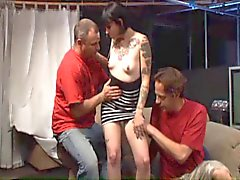 Tattoo'd girl and 2 guys