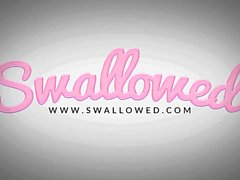 SWALLOWED Insane deepthroat blowjob from Sarah Vandella