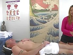 Masseuse Takes Cash To Give Her Client A Tug