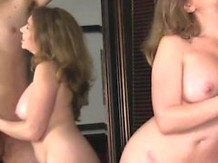 Amateur milf gives blowjob on the webcam