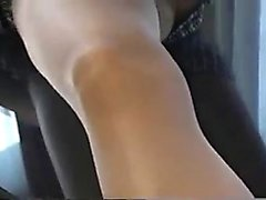Pantyhosed nympho sends her hands driving her aching slit t