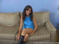 Black cutie Bella Moretti gets her pussy filled