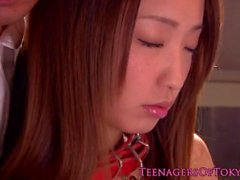 Japanese bondage teen Anju Sana is old guys slave