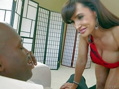 Lexington Steele and Lisa Ann in action