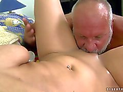 Tiana takes mature cock up her neat Teen pussy