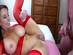 Big boobed MILF dirty talk while gets rammed