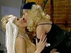 Nikki Sinn gets too hot to handle indoor for a lesbian bang with her friend