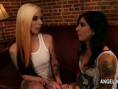 Extremely fashionable Joanna Angel fucking pornstar