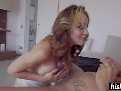 Monster cock pleases her the most