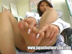 Japanese women doctors pantyhose feet