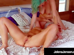 Wild Haired Lovers Jelena Jensen & Ryan Keely Eat Pussy!