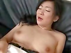 Asian Milf With Her Son And His Friend