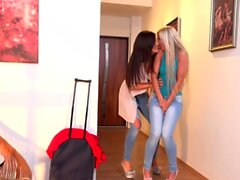 Dido Angel and Little Caprice In Lesbian Piss Fuck