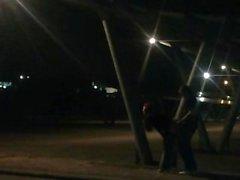 Cam Caught Voyeur Couple Fuck In Public Carpark
