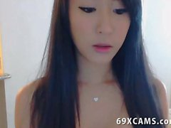 Young Sexy Asian Babe Teases On Webcam Show