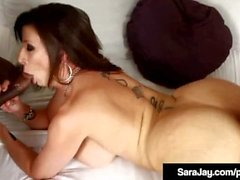PAWG Milf Sara Jay Gets 2 Big Black Cocks In Both Ends!