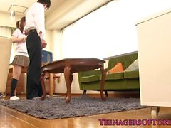 Japanese schoolgirl toyed and fucked