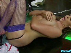Krystal Webb And Cindy Behr Lead An All Star Lesbian Stripper Gangbang!