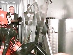 Dirty Carmen in steamy latex stuffing part5