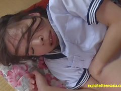 Jav Idol Abe Mikako Gets Ambushed And Made To Fucks Old Guy Wearing Her School Uniform
