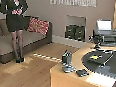 Big ass and tits blonde fucked in office
