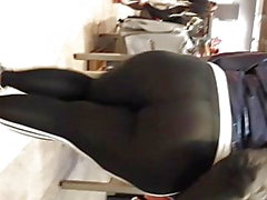 Mega seethrew ebony white thong