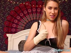 Busty Teen Kimber Lee Gives a Latex Glove JOI!