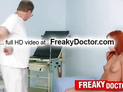 Slim redhead Electra Angels physical exam prior cunt exam