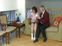 Old grandfather fuck this horny granny whore